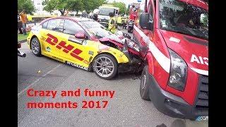 Video CRAZY AND FUNNY MOTORSPORT MOMENTS 2017!! MP3, 3GP, MP4, WEBM, AVI, FLV Januari 2019
