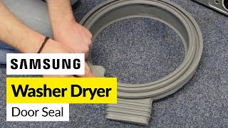 For all your washing machine spare parts go to http://bit.ly/1828iPFIf your washing machine seal is leaking from damage or it is just discoloured from mould it can be replaced. Mat shows in this video how to carry out this repair on a Samsung machine. This is also similar to many LG machines.
