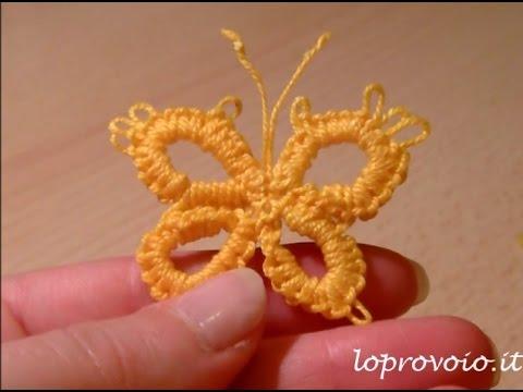 farfalla al chiacchierino con l'uncinetto