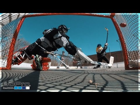 GoPro Hockey | PLAYING GOALIE?! (видео)