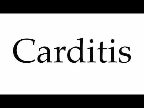 How to Pronounce Carditis