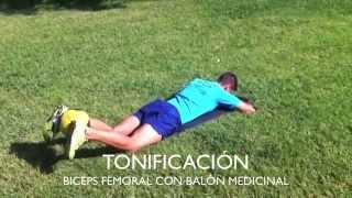 Biceps femoral con balón medicinal