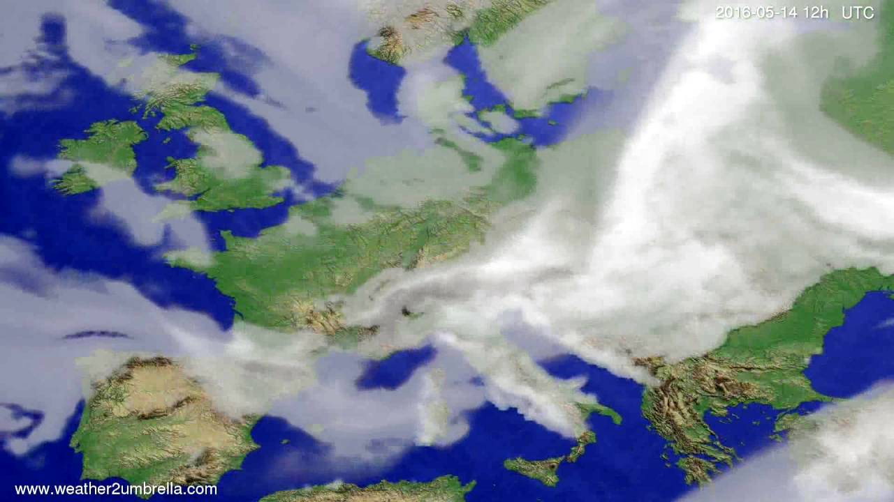 Cloud forecast Europe 2016-05-10