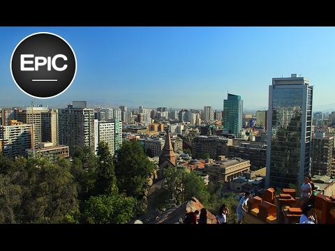 Cerro Santa Lucía & Castillo Hidalgo - Santiago de Chile (HD)