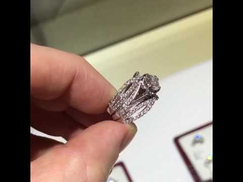 3 piece engagement ring set by pompeii3
