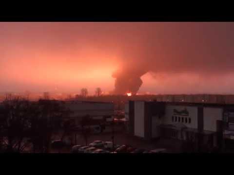 Kula ognia oświetliła pół Białegostokucrash explosion blast tanker