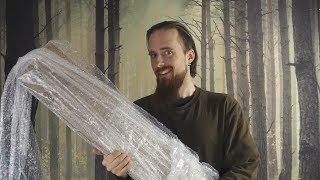 https://sabersmith.com/If you like bubble wrap, you're going to enjoy this one. Oh, and if you like curved swords, like those weirdos from Hammerfell...********************************************************************************Want to help fund future videos?http://www.patreon.com/skallagrimGet in contact or see a list of my video uploads:https://www.facebook.com/SkallagrimYThttps://twitter.com/_Skallagrim_My gaming channel:https://www.youtube.com/channel/UCf6CpA3RvKibY4fMQ60SyoAMy favorite online store for buying swords (worldwide shipping):http://ww4.aitsafe.com/go.htm?go=kultofathena.com&afid=28632&tm=14&im=1Channel-related shirts and stuff:http://skallagrim.spreadshirt.com/Some recommended knife makers on Amazon:http://amzn.to/1qjwMNL