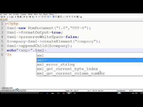 Video How to write XML data/ XML file with the help of PHP. download in MP3, 3GP, MP4, WEBM, AVI, FLV January 2017