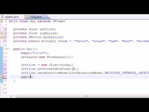 Java Programming Tutorial - 72 - Multiple Selection List