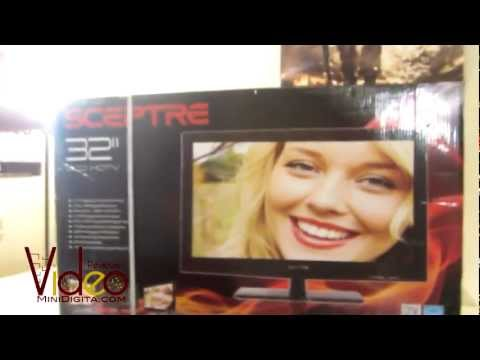 Sceptre 32 inch LCD HDTV Unboxing & First Look