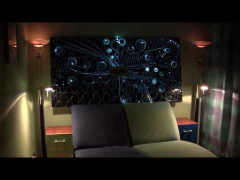 Oświetlenie LED ścian w sypialni