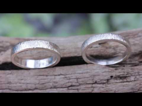 Texturing Silver rings with Fretz Hammer HMR-12 Demo & Review