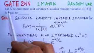 Video Solution to GATE- ECE 2014 Problem Random VariablesComm.Systems