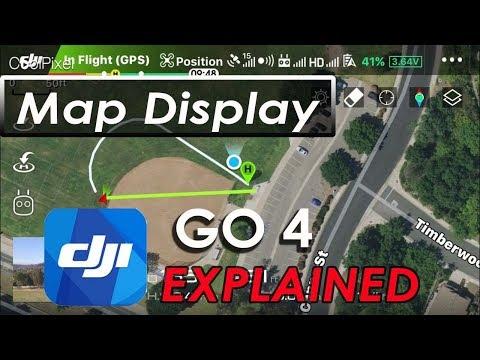 DJI GO 4 App - Map Display - DJI Mavic Pro 2 Pro Air Phantom Spark