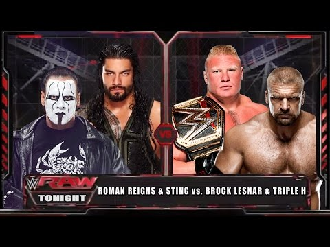 Video WWE RAW 15 - Roman Reigns & Sting vs Brock Lesnar & Triple H - WWE RAW Full Match HD! download in MP3, 3GP, MP4, WEBM, AVI, FLV January 2017