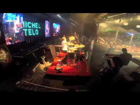 Festa do Peão de Leme 2014 - Michel Teló na Bateria (видео)