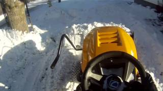 1. Cub Cadet XT1 plowing after the storm and plowing tips
