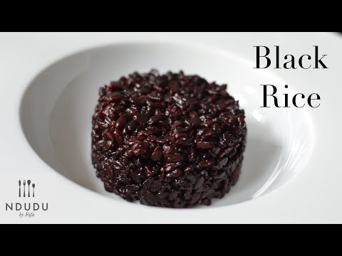 HOW TO COOK BLACK VENUS RICE (THE FORBIDDEN 🚫 RICE) VEGETARIAN & GLUTEN FREE RECIPE