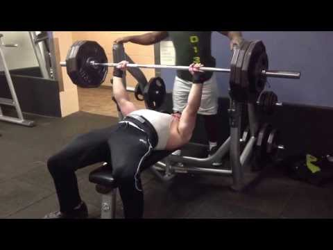 370lbs bench press for 7 (almost 8) reps.