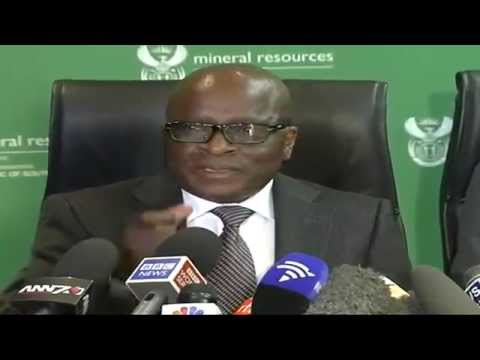 Ngoako Ramatlhodi Press Briefing on Amcu strike