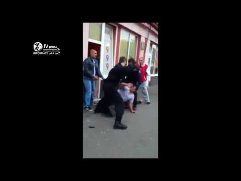 Цыган нападает и огребает (Работа чешской полиции)