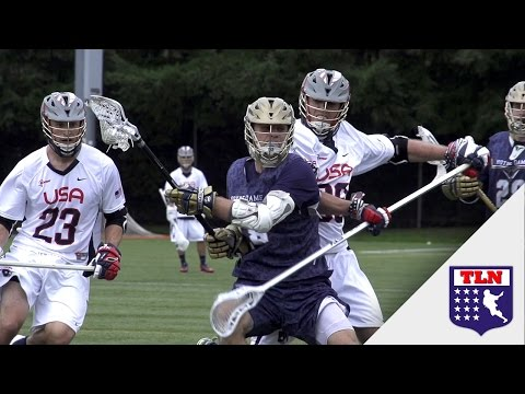 Dame - The Notre Dame men's lacrosse team battled against Team USA at the 2014 Seatown Classic. Subscribe to The Lacrosse Network for more great lacrosse content!