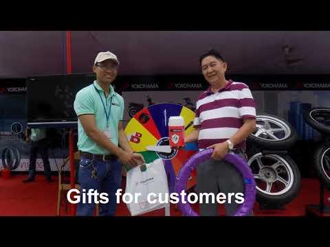 Yokohama tyre selling in Aeon Mall Canary Binh Duong