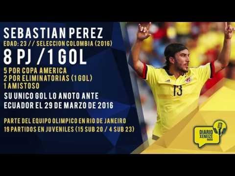 Así juega Sebastián Pérez, volante central colombiano