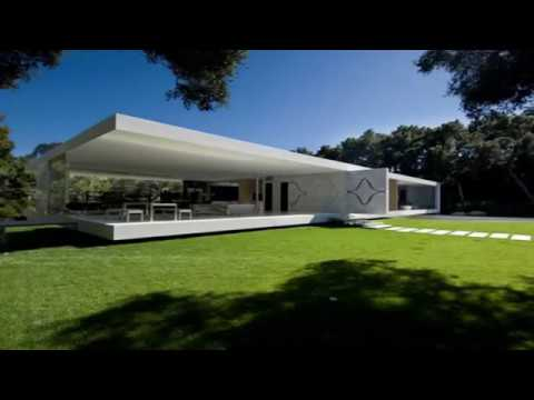 Fashionable Glass Pavilion House in Minimalist Design