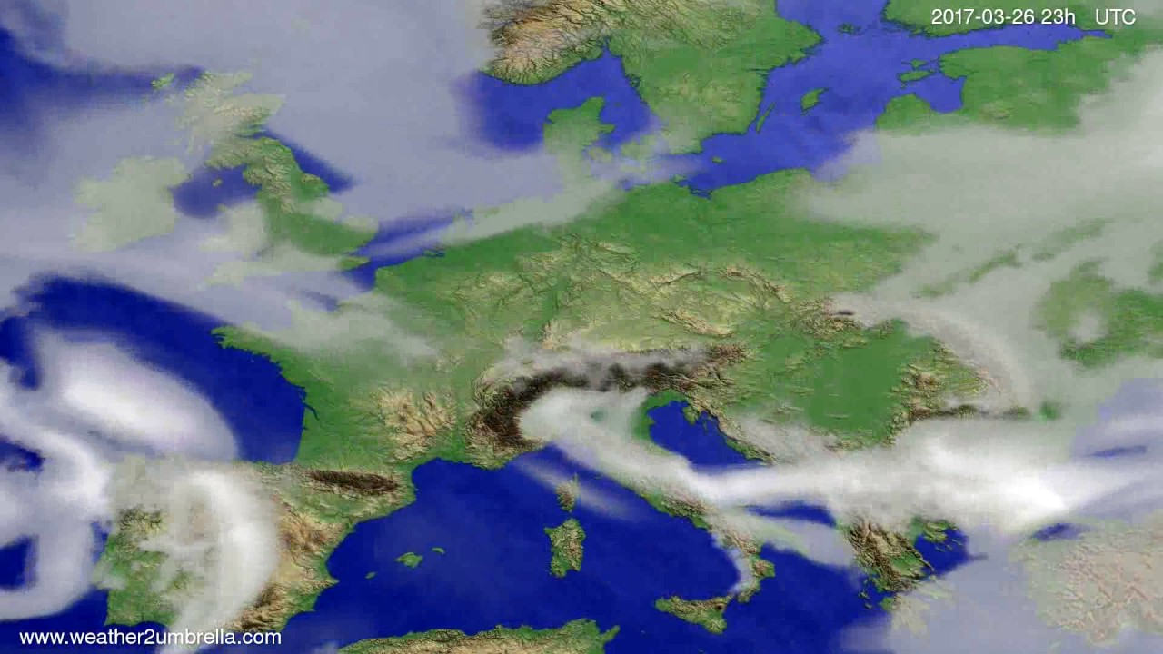 Cloud forecast Europe 2017-03-23