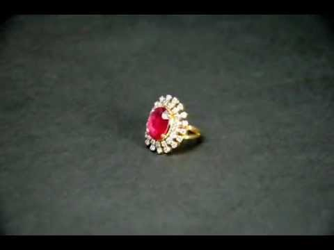 Real Ruby & Diamond Ring