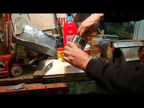 saldare l'acciaio inox con lo stagno.