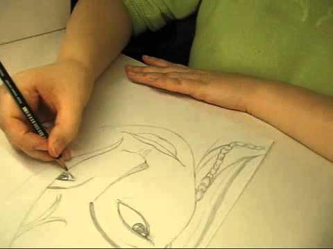 Gesicht zeichnen und schattieren