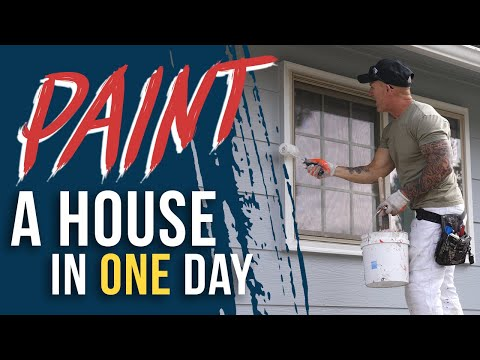 idaho painters - A discussion and explanation on how we paint a house in a day. The first hour and forty minutes of the painting process sped up. See what can be accomplished...