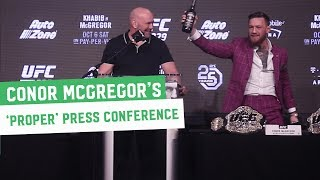 "Video Highlights || Conor McGregor shows New York a ""Proper Press Conference"" MP3, 3GP, MP4, WEBM, AVI, FLV Desember 2018"