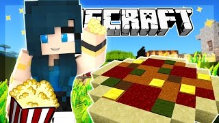 Minecraft - BUILDING PIZZA AND POPCORN! FOOD MANIA! - Team Build Battle (Minecraft Minigame)