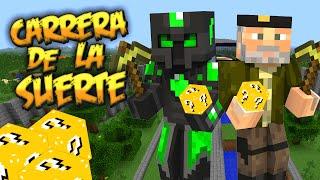 CARRERA DE LA SUERTE - Willyrex vs sTaXx - Carrera épica Lucky Blocks -
