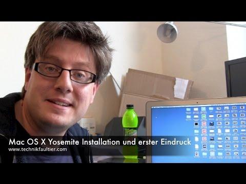 mac - Mac OS X Yosemite Installation und erster Eindruck Endlich ist das neue Mac Betriebssystem auch für die Massen da. Ich selber habe dieses Jahr einen großen Bogen um die Beta gemacht und blicke.