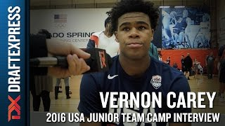 Vernon Carey Interview at USA Basketball Junior National Team Camp