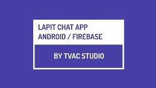 """Hi guys,I'll be teaching """"How to Create a Chat App"""" in Android Studio in this series of tutorials.If you feel these tutorials helped you in anyways, you can support us to create more content by donating here :http://paypal.me/ArathiSinghOr by becoming a patreon :https://www.patreon.com/akshayejhLike us on Facebook :https://www.facebook.com/TvacStudio/"""