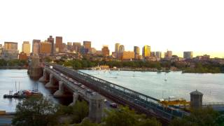 Sunset Time-Lapse Over Longfellow Bridge - Sep 12, 2014