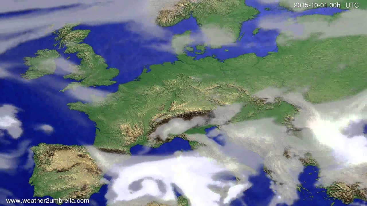 Cloud forecast Europe 2015-09-28