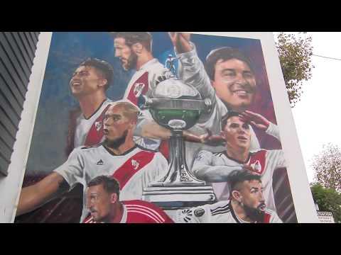 El mural del Más Grande en homenaje a los campeones de América