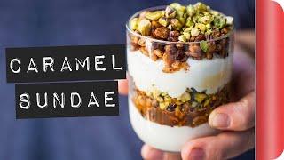 Toasted Cereal Caramel Sundae Recipe #ad by SORTEDfood