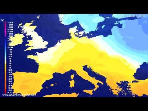 Temperature forecast Europe 2015-10-06