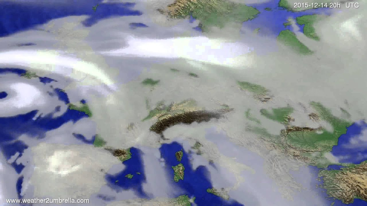 Cloud forecast Europe 2015-12-12
