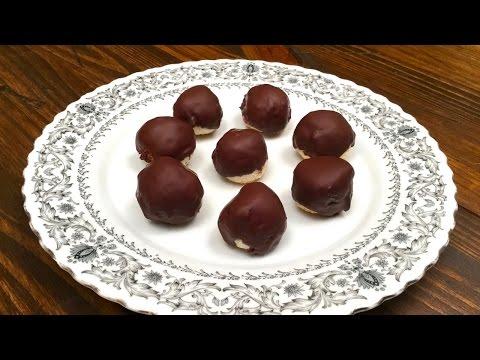 gocce di cioccolato con ripieno di cocco - ricetta naturale casalinga
