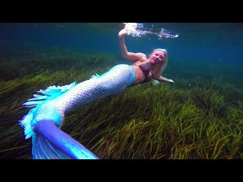 Blue Tailed Mermaid Melissa: Peaceful Relaxing Background Footage, Inspirational Uplifting Music