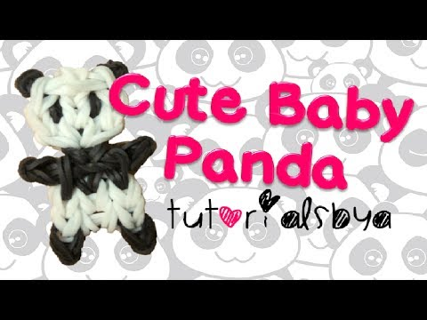NEW Cute Baby Panda Rainbow Loom Charm/Figurine Tutorial