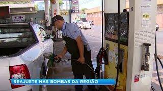 Aumento do combustível na região